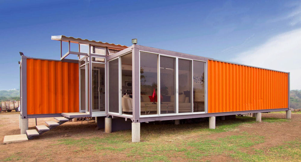 Container haus containerhaus wohncontainer for Moderne wohncontainer